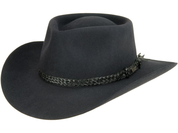 The Overlander Hat by Akubra, Graphite